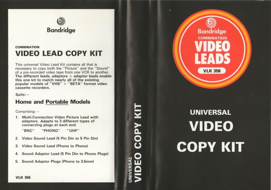 Bandridge Video Copy Kit