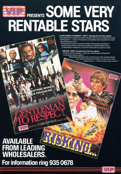 VIP Advert Oct 83 (Video Business 31-3-83)